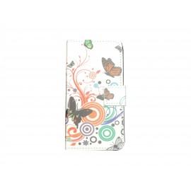 Pochette pour Samsung Galaxy Alpha G850 papillons + film protection écran