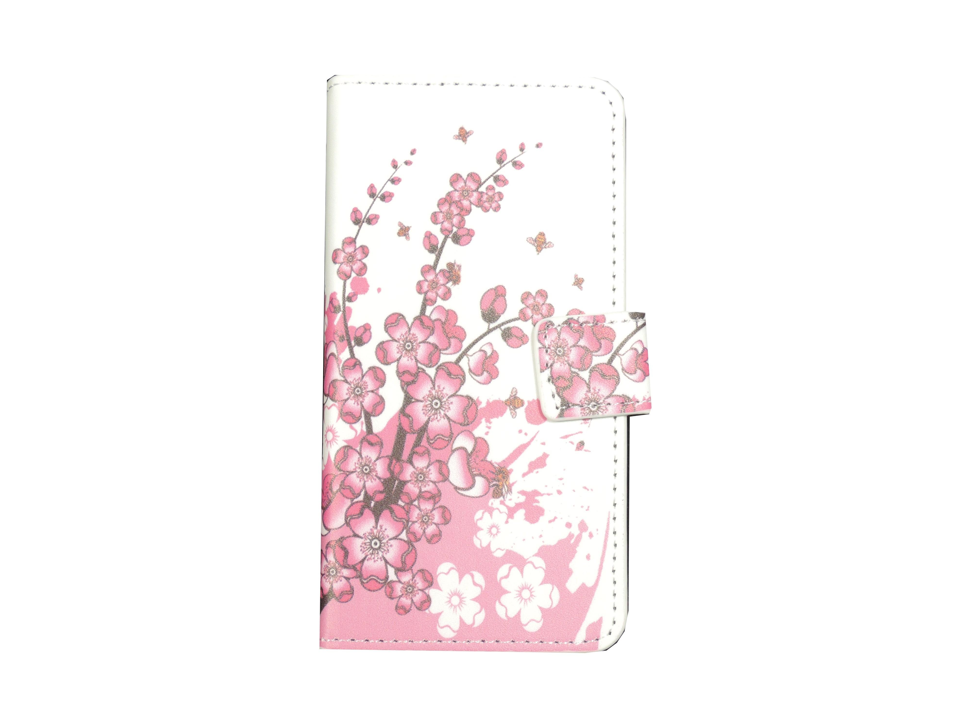 pochette pour samsung galaxy alpha g850 petites fleurs roses