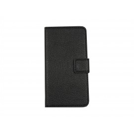 Pochette pour Samsung Galaxy Alpha G850 simili-cuir noir + film protection écran