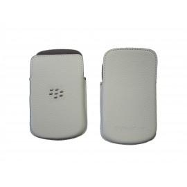Etui ceinture en cuir noir Blackberry Q10 + film protection écran