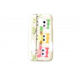 Coque TPU Samsung Galaxy S5 Mini G800 hiboux multicolores + film protection écran offert