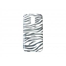 Coque TPU Samsung Galaxy S5 Mini G800 zèbre noir blanc + film protection écran offert