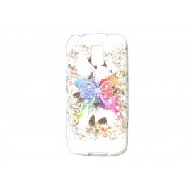 Coque TPU Samsung Galaxy S5 Mini G800 papillon multicolore+ film protection écran offert