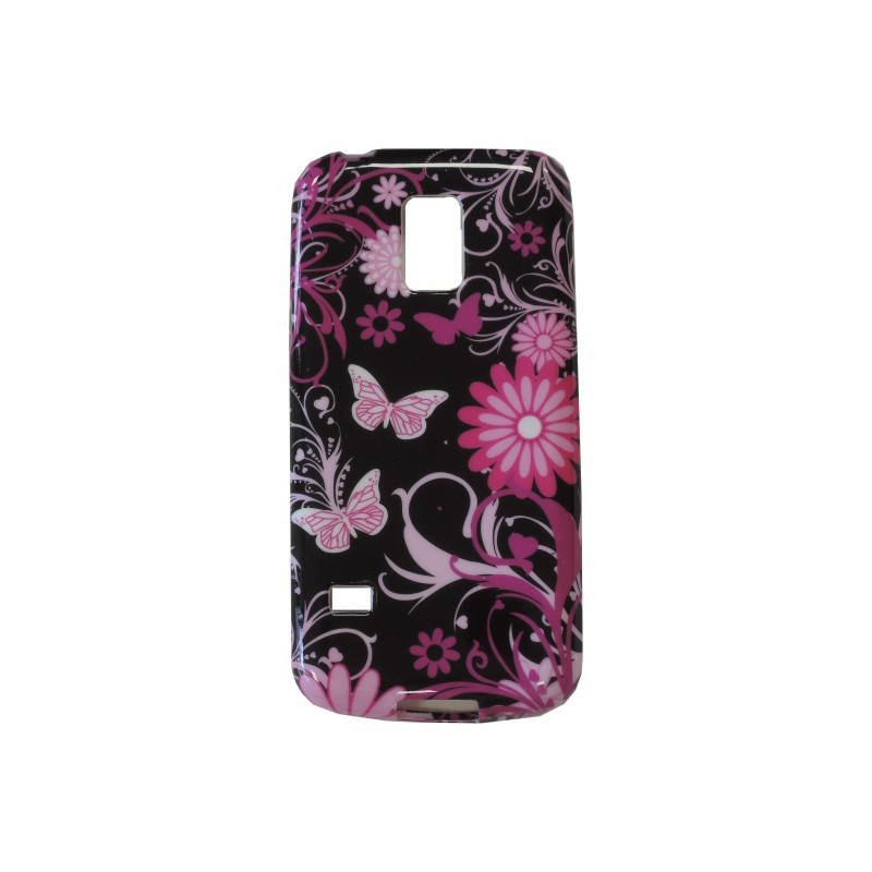coque tpu samsung galaxy s5 mini g800 noire papillons roses. Black Bedroom Furniture Sets. Home Design Ideas
