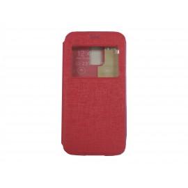 Pochette Inote pour Samsung Galaxy S5 Mini G800 rouge+ film protection écran