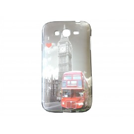 "Coque TPU Samsung Galaxy Grand I9080 ""I love London"" + film protection écran offert"