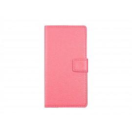 Pochette pour Sony Xperia Z3 compact rose + film protection écran