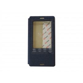 Pochette Inote pour Sony Xperia Z3 compact bleue nuit + film protection écran