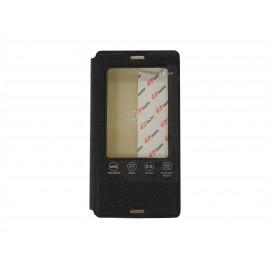 Pochette Inote pour Sony Xperia Z3 compact noire + film protection écran