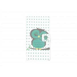 Pochette pour Sony Xperia M2 hibou vert + film protection écran offert