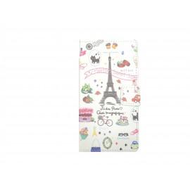 Pochette pour Sony Xperia E3 Tour Eiffel + film protection écran