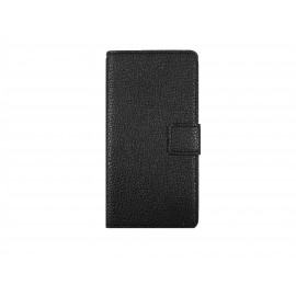 Pochette pour Sony Xperia E3 simili-cuir noir + film protection écran