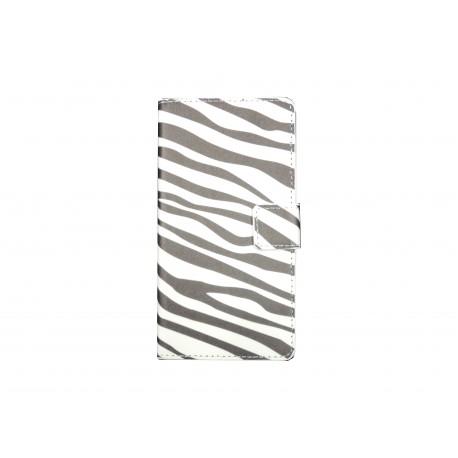 Pochette pour Wiko Sunset motif zèbre + film protection écran