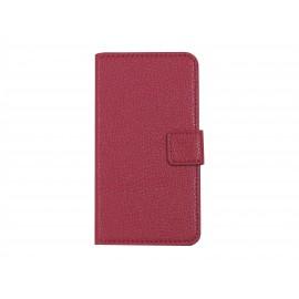 Pochette simili-cuir pour Nokia Lumia 630 rose + film protection écran