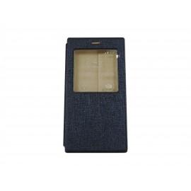 Pochette Inote pour Xiomi MI3 bleue nuit+ film protection écran
