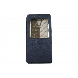 Pochette Inote pour Xiomi MI4 bleue nuit+ film protection écran