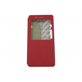 Pochette Inote pour Xiomi MI4 rose fuchsia + film protection écran