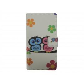 Pochette pour LG L Fino hibou + film protection écran offert