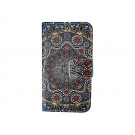 Pochette simili-cuir pour Nokia Lumia 530 cachemire bleu+ film protection écran