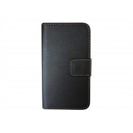 Pochette simili-cuir pour Nokia Lumia 530 noire+ film protection écran