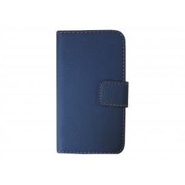 Pochette simili-cuir pour Nokia Lumia 530 bleue + film protection écran