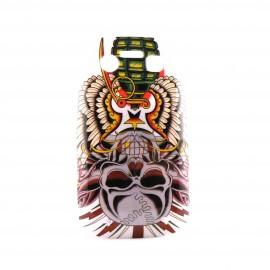 Coque rigide et brillante tete de mort grenade pour Blackberry 9700 Bold  + film protection ecran offert