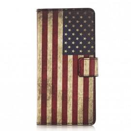Pochette pour Samsung Galaxy S6 Edge USA/Etats-Unis + film protection écran
