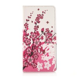 Pochette pour Sony E4 petites fleurs roses