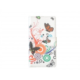 Pochette pour Wiko Lenny papillons multicolores+ film protection écran