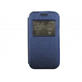 Pochette Inote Samsung Galaxy J1 noire + film verre trempé Incassable