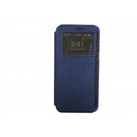 Pochette Inote Samsung Galaxy S6 Edge plus bleue nuit + film verre trempé Incassable