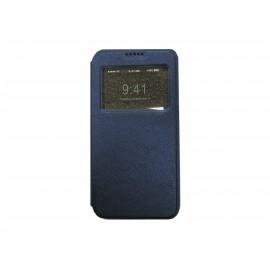 Pochette Inote Samsung Galaxy J7 bleue nuit + film verre trempé Incassable