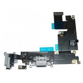 Connecteur de charge + micro + prise jack noir pour Iphone 6Plus