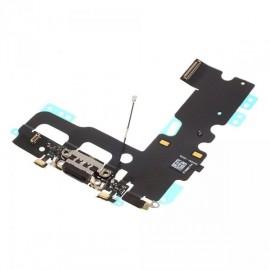Connecteur de charge + micro + prise jack noir pour Iphone 7