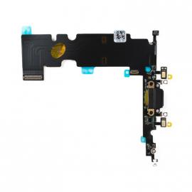 Connecteur de charge + micro + prise jack noir pour Iphone 8 Plus
