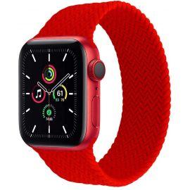 Bracelet silicone effet tressé rose pour Apple Watch