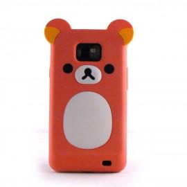Coque silicone pour Samsung I9100 Galaxy S2 motif Koala + film protection ecran offert