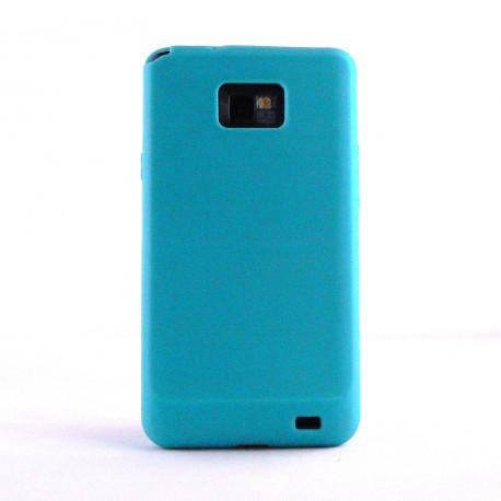 Coque silicone pour Samsung I9100 Galaxy S2 + film protection ecran offert