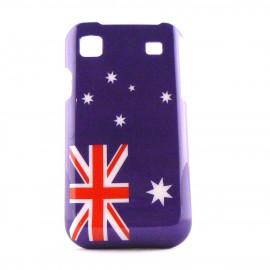 Coque drapeau Australie pour Samsung I9000 Galaxy S  + film protection ecran offert
