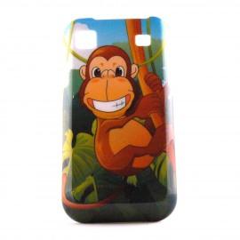 Coque pour Samsung I9000 Galaxy S motif primate  + film protection ecran offert