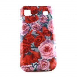 Coque pour Samsung I9000 Galaxy S motif roses + film protection ecran offert