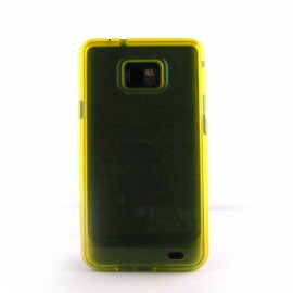 Coque semi-rigide transparente Samsung I9100 Galaxy S2 + film protection ecran offert
