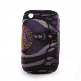 Coque silicone petite fille et oiseau Blackberry 8520 curve+ film protection ecran offert