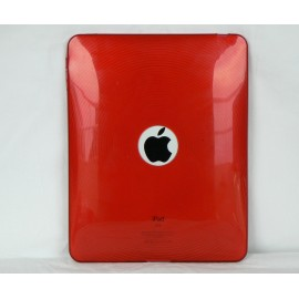 Coque silicone transparente avec des cercles Ipad 1 + film protection ecran