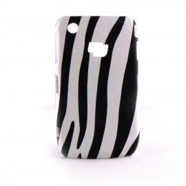 Coque pour Blackberry 8520 Curve motif zebre noire et blanc + film protection ecran offert