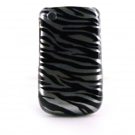Coque integrale motif zebre pour Blackberry 8520 Curve+ film protection ecran offert