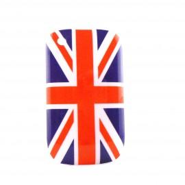 Coque drapeau Angleterre/UK pour Blackberry 8520 Curve  + film protection ecran offert