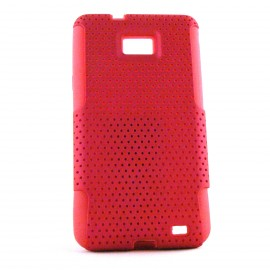 Coque Samsung I9100 Galaxy S2 microperforee interieur silicone + film protection ecran offert