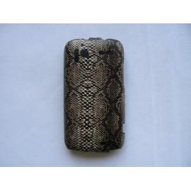 Pochette étui clapet imitation peau de serpent HTC G14 Sensation + film protection écran
