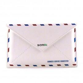 Pochette Etui cuir enveloppe pour Iphone 4 + film protection écran